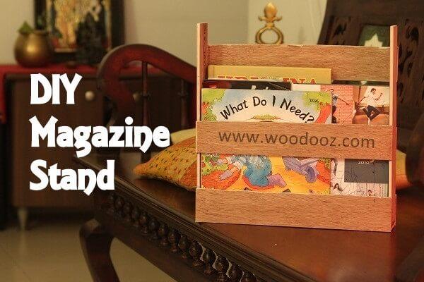 Make a magazine holder  using wooden scraps