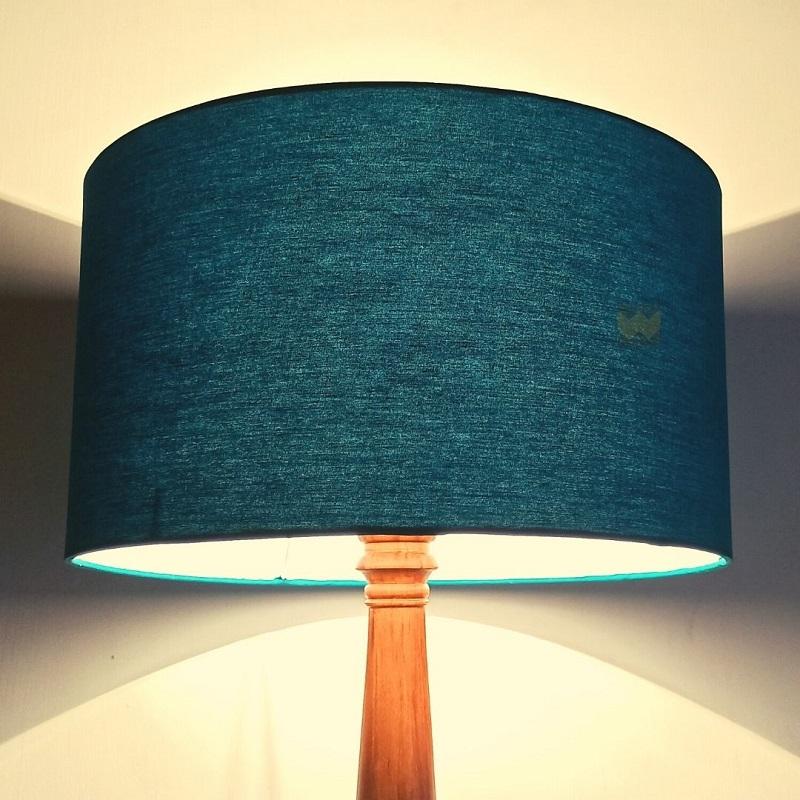 Peacock blue lamp shade
