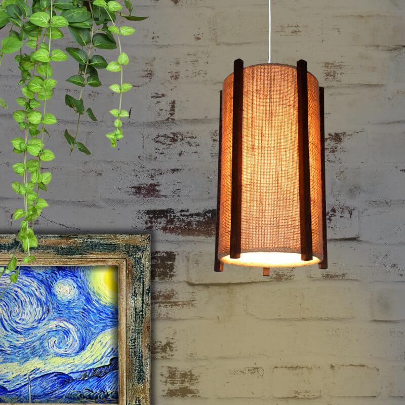 Jute hanging lamp shade