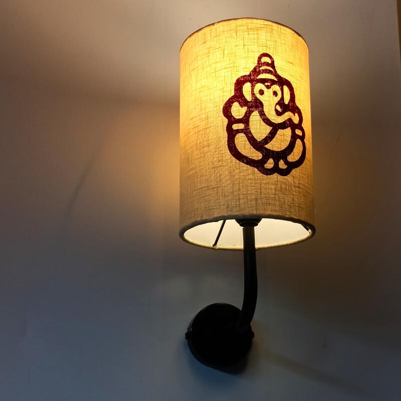 Ganesha wall lamp fixture