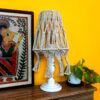 Macrame table lamp