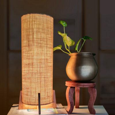 Jute table lamp